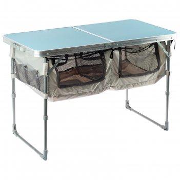 Стол 1020 х 500 мм складной, сст-3п, цвет голубой