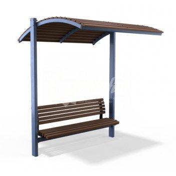 Навес со скамейкой «модерн»