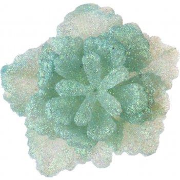 Изделие декоративное роза на клипсе. тиффани диаметр=8 см. (мал=100шт./кор