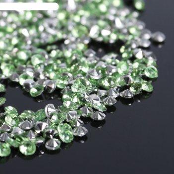 Стразы (набор 10грамм), 3мм, цвет сетло-зеленый №3