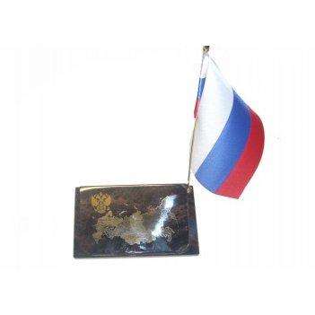Флаг на подставке из обсидиана