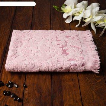 Полотенце fidan orient 70х130 см, розовый, хлопок 100%,  420 гр/м2