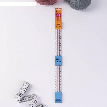 Спицы вязальные с измер шкалой металл 2,5мм*35см (набор 2шт цена за набор)