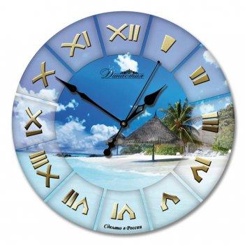 Настенные часы из стекла династия 01-019 море