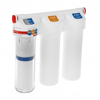 Водоочиститель prio новая вода praktic еu305, фильтр-система под мойкой, с