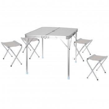 Набор мебели туристический, складной (стол 80х85х70 см, 4 стула 43х29х25 с