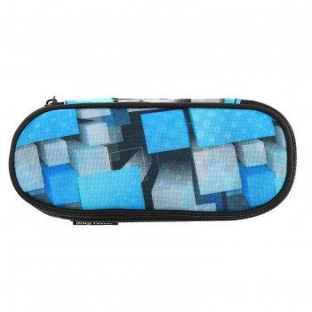 Пенал мягкий, футляр, из ткани, 50 х 210 х 80 мм, mag taller case, square