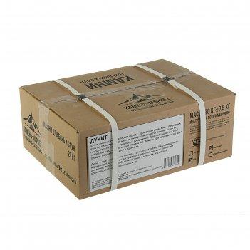 Камень для бани дунит, колотый, коробка 20кг, размер 60-150мм