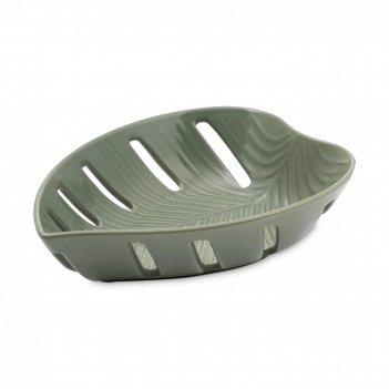 Блюдо для фруктов, размер: 26,3 х 19,3 см, материал: керамика, цвет: зелен