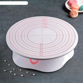 Подставка для торта вращающаяся с разлиновкой и стопером 32х10 см