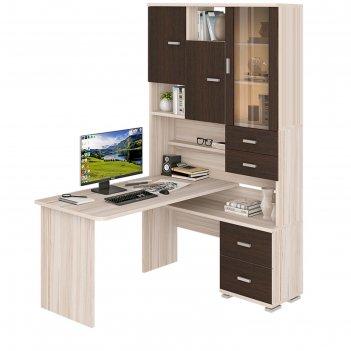 Стол компьютерный «ср 620/140», 1300 x 1400 x 2160 мм, правый, карамель/ве