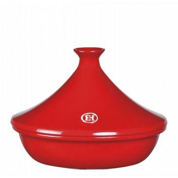 Тажин керамический emile henry красный 2 литра 27 см