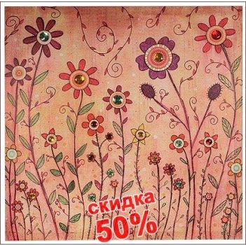 Панно-картина полевые цветы 60*60см