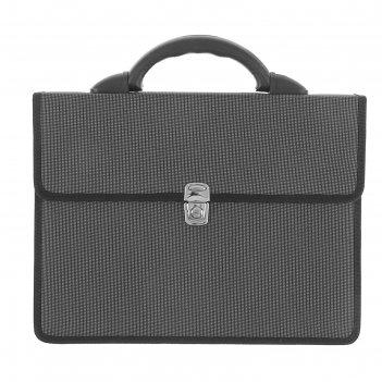 Портфель деловой «выборг», 350 х 260 х 10 мм, цвет серый