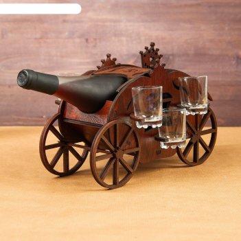 Мини-бар деревянный карета