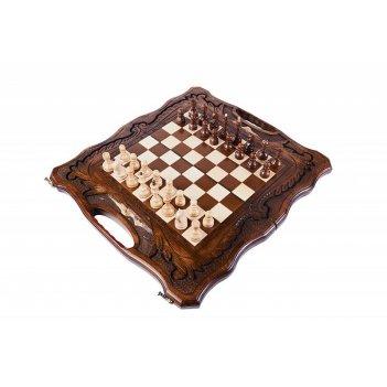 Шахматы резные с араратом, ручкой и ложементом 50, haleyan