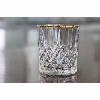 Набор стаканов для виски brixton gold, 320 мл, 4 шт