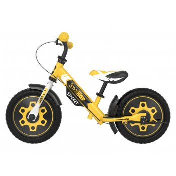Беговел с 2 тормозами small rider roadster sport 4 eva (желтый)