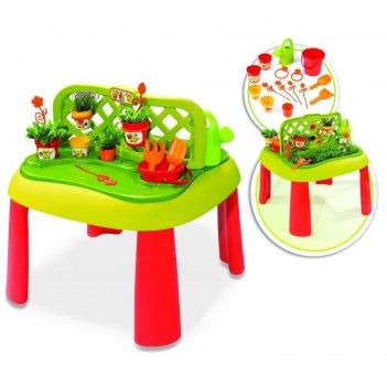 Игровой столик-песочница огород