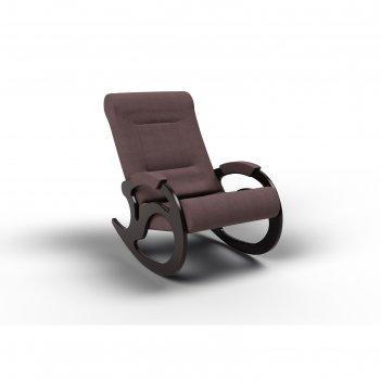 Кресло-качалка «вилла», 1040 x 640 x 900 мм, ткань, цвет кофе с молоком