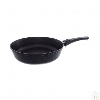 Сковорода литая из алюминия ф26 черный