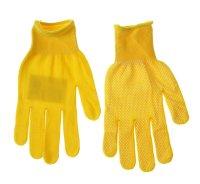 Перчатки х/б с нейлоновой нитью с пвх точка желтые