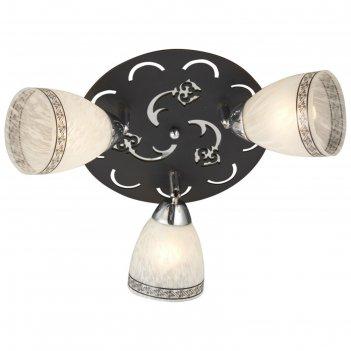 Светильник эдда 3x60вт e27 хром, черный 34x34x18см
