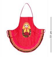 Тк-244 фартук матрешка детский (красный)