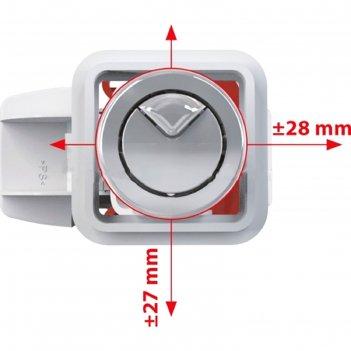 Арматура для смывных бачков alcaplast 1/2, двойная кнопка, с нижней подвод