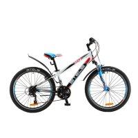 Велосипед 24 stels navigator-450 v, размер 12, цвет: белый/чёрный/красный/