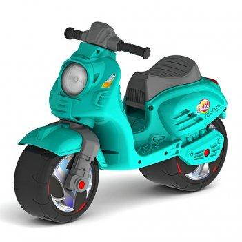 Ор502 каталка-мотоцикл беговел скутер цвет аква