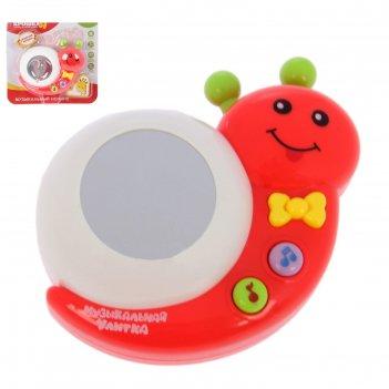 Игрушка музыкальная улитка с проектором цвета:микс   №sl-00420b