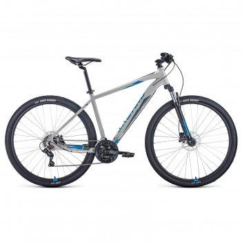 Велосипед 29 forward apache 3.2 disc, 2021, цвет серый/синий, размер 19