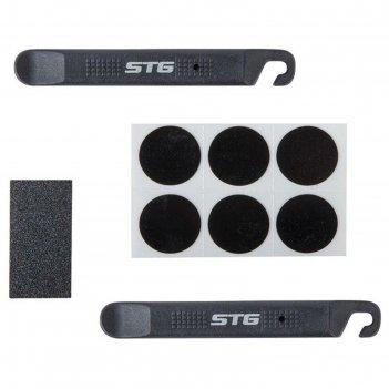 Аптечка для ремонта вело камер stg yc129b, монтажки+самоклеющиеся заплатки