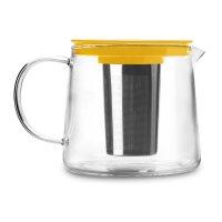 Чайник для кипячения и заваривания, объем 1,5 л, стеклянный с фильтром, се