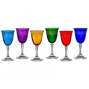 Набор бокалов для вина из 6 шт. клеопатра микс 2...