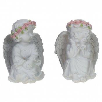 Фигурка декоративная ангел, l10 w10 h13 см, 2в.