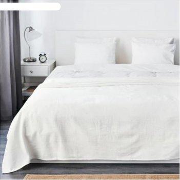 Покрывало индира, размер 230х250 см, цвет белый