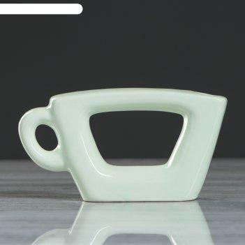 Ваза чашка, зелёный цвет, 7,5 см
