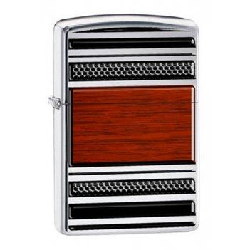 Зажигалка zippo pipe, латунь с покрытием high polish chrome, цвета стали и