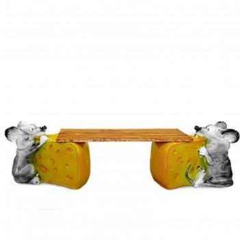 Скамейка мышь с сыром №1
