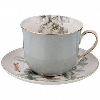 Чайный набор на 1 персону циркон, 2 пр., 400 мл.