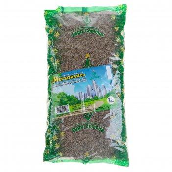 Семена газонная травосмесь мегаполис, 1 кг