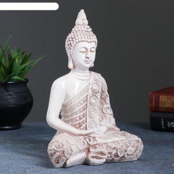 Фигура будда малый 19х9х23см состаренная