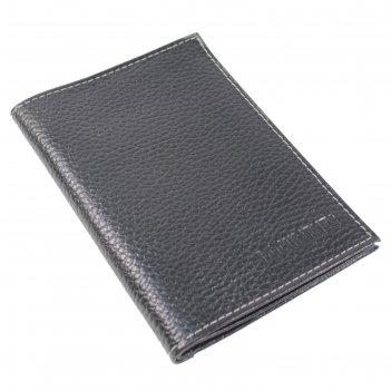 Обложка вп103 для автодокументов+паспорт, чёрный, флотер