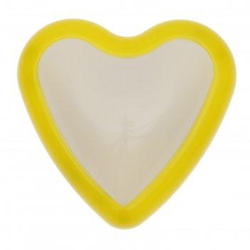 Ночник-пушлайт пластик сердце от 3ааа микс 3,7х9,5х9,7 см