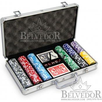 Набор для покера на 300 фишек с номиналом royal flush