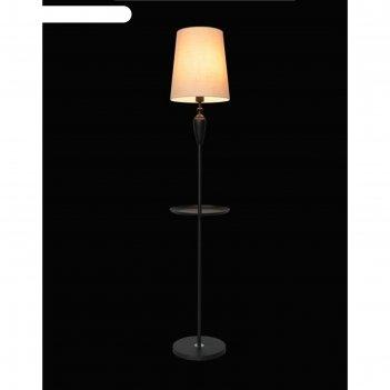 Торшер 0819/1 1х60вт е27, со столиком, черный, d=30 см, h=160 см