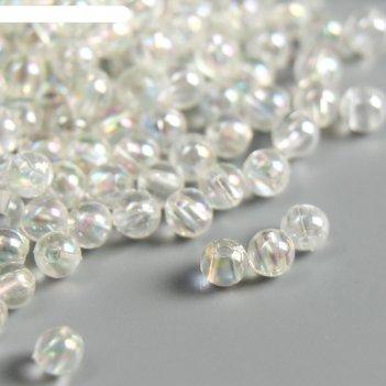 Набор бусин для творчества пластик мыльный пузырь набор 20 гр  4/0 0,4х0,4
