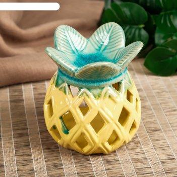 Аромалампа керамика ананас резной микс 11,5х9,5х9,5 см